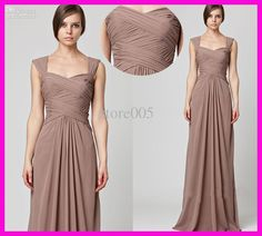 Wholesale Bridesmaid Dresses - Buy Elegant Cap Sleeve Pleated Chiffon A Line Long Bridesmaid Dresses B2008, $97.73   DHgate
