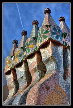 Detail of the Casa Batlló (Antoni Gaudí), Barcelona, Catalunia, Spain