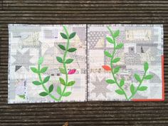 Spot the difference – Tendrils Mini Quilt 2