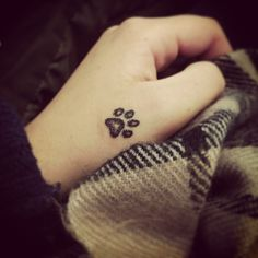 Super Cute Dog Paw Hand Tattoo Design | Cool Tattoo Designs