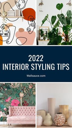 If you want your home to be the epitome of happiness, here are some of the best interior styling tips for 2022 and beyond! From beautiful wall art and decorating in green, to upcycling furniture and going botanical with house plants, these interior styling tips are just what you need to give your home a new year spruce! Discover more at Wallsauce.com! Best Interior, Interior Styling, Interior Design, Beautiful Wall, Beautiful Homes, Color Of Life, Humble Abode, Upcycled Furniture, Soft Furnishings