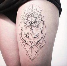 Resultado de imagen de camafeo de gato tatuado