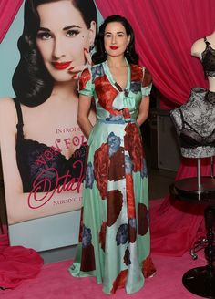 Dita Von Teese at the Von Follies Collection for Destination Maternity launch event.