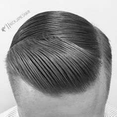 t r e a d // creating smooth tread in the hair is a simplistic yet effective approach to classic hairdressing. Start with a grooming spray… Slick Hairstyles, Classic Hairstyles, Professional Hairstyles, Cool Haircuts, Haircuts For Men, Undercut With Beard, Hair And Beard Styles, Hair Styles, Hair Pomade