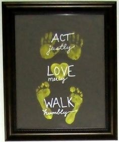 Kiddo wall art - I love it and in a few years, they can see how much they have grown!!!