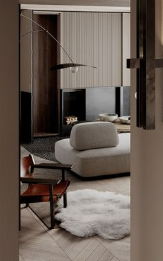 Contemporary Interior Design, Modern Interior, Home Interior Design, Interior Styling, Interior Architecture, Living Tv, Living Spaces, Floor Design, Living Room Interior