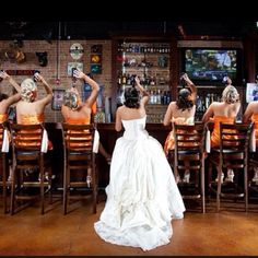 I will absolutely take a picture like this on my wedding day. haha