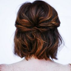 The *perfect* wedding hairstyle for short-haired girls <3