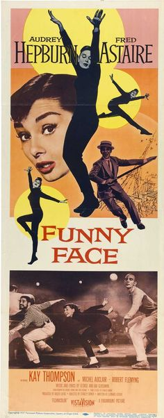 """""""Funny Face"""" ~ Audrey #Hepburn & Fred #Astaire, 1957  #musical"""