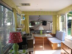Tent Trailer remodel, lots of organizing ideas Oh how cute is this?? This might just be our next project... :) haha