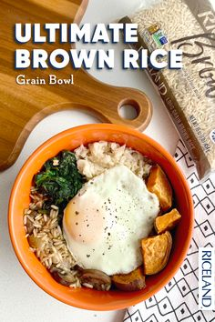If you're wanting to try something new, our hearty grain bowl is packed with flavor and nutrients. This recipe features sweet potato, portabella mushrooms, spinach, egg and most importantly, Riceland Brown Medium Grain Rice. With mouthwatering ingredients like these, making the Ultimate Brown Rice Grain Bowl is never a bad choice. Grain Bowl, Rice Grain, Soup Pan, Long Grain Brown Rice, Spinach Egg, Stuffed Mushrooms, Stuffed Peppers, Mashed Cauliflower, Recipe Search