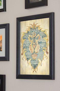 World of Warcraft Alliance Art Print Framed by SkahfeeStudios