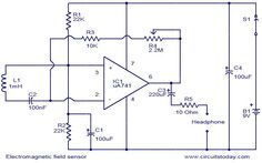 Electromagnetic field sensor circuit