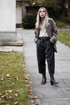 #grey #brown #style #androgynous