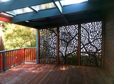 Did you know you can have us create screens from a design all your own? If you are a creative person or know someone who is, you can provide us the artwork and we will cut your dream screen for you! Here is a wickedly beautiful custom design someone had us make for their deck wall in compressed hardwood. We are located in Melbourne but we ship all over Australia. ~QAQ #customscreens #customwallart #customdecorativescreens
