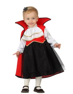 De leukste baby Halloween kostuums kunt u vinden bij Vegaoo! Bestel snel dit rode-zwarte vampier kostuum voor baby's op onze website!