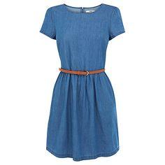 Buy Oasis Hayley Denim Dress, Chambray Online at johnlewis.com