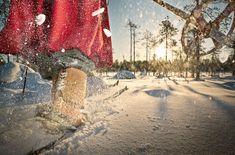 Enter the Arctic region -Rovaniemi, Lapland, Finland
