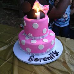 Minnie mouse birthday cake for my daughters first bday party :)