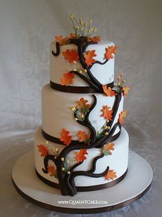 #fall #autumn #wedding #cake