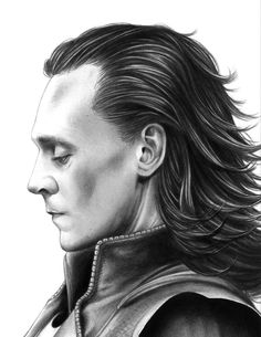 Loki in profile. I need this print in my life. It's so beautiful.