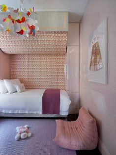 ligne roset in kids room Mini Togo Bed For Girls Room, Big Girl Rooms, Girls Bedroom, Bedroom Decor, Kids Rooms, Lilac Bedroom, Yellow Bedrooms, Childrens Rooms, Bedroom Inspo