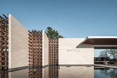SETTHASIRI PHAHOL-WATCHARAPOL on Behance Entrance Signage, Entrance Design, Entrance Gates, Gate Design, Facade Design, Minimalist Architecture, Facade Architecture, Landscape Architecture, Landscape Walls