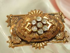 Large Gorgeous Antique 1800s Victorian Rhinestone Brooch 517E | eBay