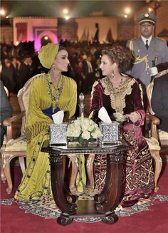 Sheikha Mozah and Lalla Salma at the Fez Festival