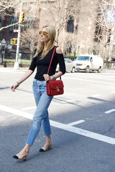 mindbodyswag. Chanel slingbacks, levis, celine box