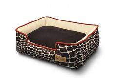 The Kalahari Lounge Bed from P. has a fun giraffe print design along with an extra comfy inner cushion and elevated sides. Order your new pet bed today. Dog Sofa Bed, Dog Pillow Bed, Circle Bed, Round Dog Bed, Fluffy Bedding, Designer Dog Beds, Bed Lights, Lounge, Velvet Material