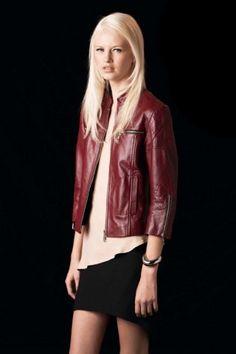 #autumndreamery - Watson X Watson Cherry Red Quilted Leather Biker Jacket $699    http://www.the-dreamery.com/Wardrobe/Jackets/Cherry-Red-Quilted-Leather-Biker-Jacket