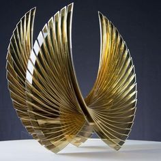 """Golden Wings"" 22"" crystal sculpture by Tom Marosz at Contemporary Fine Arts Gallery in La Jolla, CA #contemporaryfineartsgallery #cfagallery #lajolla #artglass #crystal #glasssculpture #wings #lajollalocals #sandiegoconnection #sdlocals - posted by Contemporary Fine Arts Gallery  https://www.instagram.com/contemporaryfineartsgallery. See more post on La Jolla at http://LaJollaLocals.com"