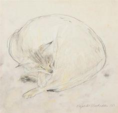 Elizabeth Blackadder - Sleeping Abyssinian Cat,