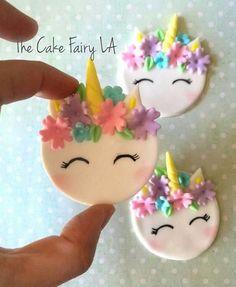 Unicornio Fondant Cupcake Topper