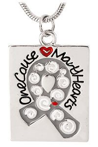 One Cause Many Hearts Diabetes Awareness Necklace for $8.99! Every purchase funds diabetes research through The Diabetes Research Site!