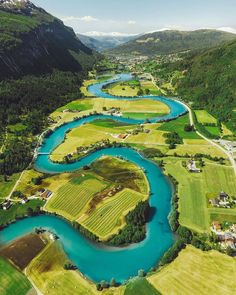 "Visit Norway on Instagram: ""A long and winding.... river!  Do you know the name of this one? Taken by @rubensoltvedt . Here is his story behind this shot:  ""Love…"""