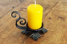Hey, I found this really awesome Etsy listing at https://www.etsy.com/listing/263886740/forged-candle-holder