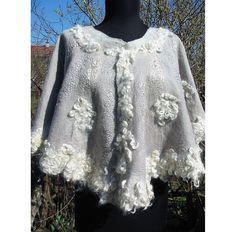 Bridal Shawl Bride's CapeWedding Gown CapeWedding White by RumiWay, $135.00