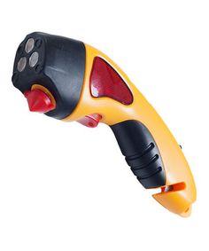 Car Safety Hammer, Window Breaker and Seatbelt Cutter- http://www.amazon.com/Safety-Hammer-Breaker-Seatbelt-Cutter/product-reviews/B00E8CV0EQ/
