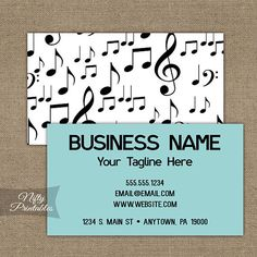love birds music notes vintage business card this great business