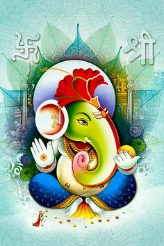 Ads Art Poster Wall decorative and Personalise Greeting cards Shri Ganesh Images, Shiva Parvati Images, Ganesha Pictures, Lord Ganesha Paintings, Lord Shiva Painting, Krishna Painting, Shiva Art, Ganesha Art, Hindu Art