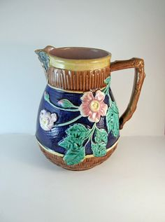 A Sweet Little Majolica Pitcher... by Laurie Gray on Etsy