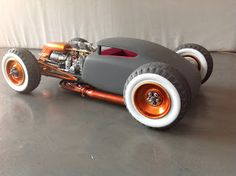 This gives me a tremendous idea for a full scale mod for a rod. Rat Rod Cars, Vw Cars, Pedal Cars, Custom Muscle Cars, Custom Cars, Custom Rat Rods, Weird Cars, Cool Cars, Hot Rods