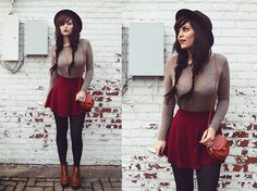 Get this look: http://lb.nu/look/7981608  More looks by Indiefoxx: http://lb.nu/indiefoxx  Items in this look:  Forever21 Long Sleeve, Amiclubwear Skirt, Amiclubwear Purse, Amiclubwear Booties, Freepeople Hat   #bohemian #edgy #vintage #boots #booties #forever21 #freepeople #urbanoutfitters #fashion