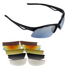 Gafas de Sol para Bici Bicicleta Ciclismo Deporte UV 400+ 6 Lentes Protección Solar