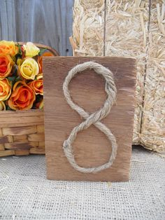 Table Number  Cedar and Rope Rustic Wood by dazzlingexpressions, $6.00