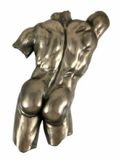 Bronze Finish Nude Male Back Torso Wall Hanging Plaque by Things2Die4. $27.99. This cold cast resin bronzed finish wall hanging of the backside of a nude male torso is a great addition to any erotic art collection. It has a wonderful metallic bronze finish that really shows off the detail. It measures 9 3/4 inches tall, 6 inches wide and 1 1/2 inches deep. It's a great conversation starter, and is sure to attract attention.