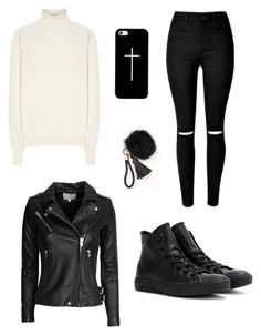 """leather jacket"" by mymistyeye on Polyvore featuring мода, IRO, Victoria Beckham, Converse и Casetify"