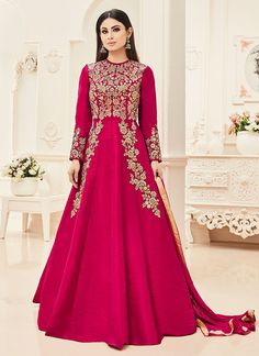 Buy Mouni Roy Pink Abaya Style Anarkali Suit online, SKU Code: SLSCC18004R. This Pink color Party anarkali suit for Women comes with Embroidered Art Silk. Shop Now!